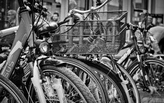 polkupyöräparkki kaupungilla